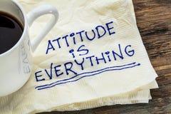 L'attitude est tout Image stock