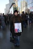 L'attivista civile alza i fondi a sostegno del tumulto purulento arrestato Fotografia Stock