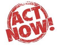 L'atto ora timbra prende a speciale di vantaggio la pubblicità esclusiva di offerta Fotografie Stock Libere da Diritti