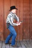 L'attraction la plus rapide de cowboy Images libres de droits