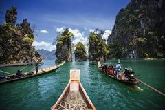 L'attrazione del porticciolo in Tailandia Fotografie Stock