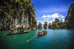 L'attrazione del porticciolo in Tailandia Fotografia Stock Libera da Diritti