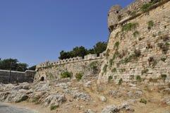 L'attrazione principale in Rethymno è il castello veneziano enorme di Fortezza Fotografia Stock