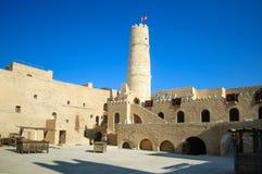 L'attrazione storica principale di Monastir è la fortezza-Ribat Hartem, Monastir fotografie stock