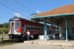 L'attrazione turistica di Cuba: treno del cioccolato dei hershey immagini stock libere da diritti