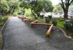 L'attrezzatura di esercizio nel parco Fotografia Stock