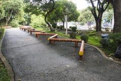 L'attrezzatura di esercizio nel parco Fotografia Stock Libera da Diritti