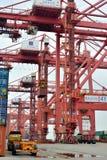 L'attrezzatura e l'operazione in contenitore si mettono in bacino, Xiamen, Cina Fotografia Stock Libera da Diritti