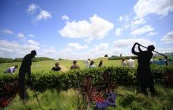 L'au sol de pratique au golf français ouvrent 2013 Photographie stock libre de droits