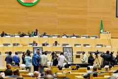 L'AU verse l'hommage sur l'ATO Meles Zenawi Image libre de droits