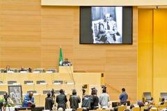 L'AU verse l'hommage sur l'ATO Meles Zenawi Photographie stock libre de droits