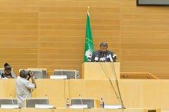 L'AU verse l'hommage sur l'ATO Meles Zenawi Photos libres de droits