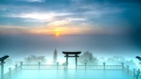 L'aube magique sur la pagoda photos libres de droits