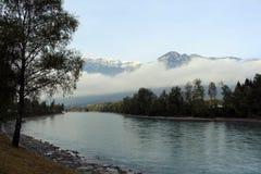 L'auberge de rivière dans Rattenberg Tyrol Photographie stock libre de droits