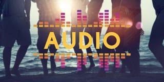 L'audio musica dell'equalizzatore di Digital sintonizza il concetto del grafico di onda sonora Fotografia Stock Libera da Diritti