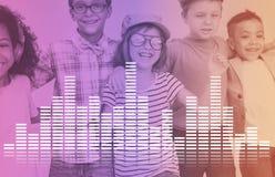 L'audio musica dell'equalizzatore di Digital sintonizza il concetto del grafico di onda sonora Immagine Stock