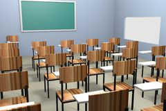 L'aula rende Fotografie Stock