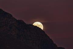 L'aumento della luna Fotografie Stock