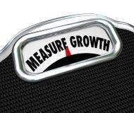 L'aumento della scala di parole della crescita della misura migliora di più alto livello Fotografia Stock Libera da Diritti