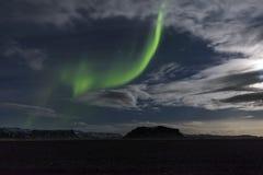 L'aurora boreale in Islanda immagine stock