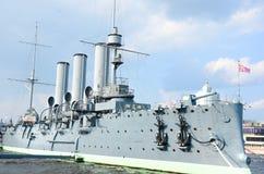 L'aurora dell'incrociatore Immagine Stock