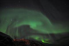 Aurora stupefacente ed il fiordo immagini stock