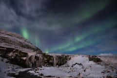 L'aurore de Kirkjufellsa Images libres de droits