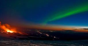 L'aurore de volcan photos libres de droits