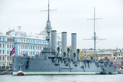L'aurore un bateau russe de musée Photographie stock