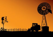 L'Australia con il mulino a vento o il generatore eolico royalty illustrazione gratis