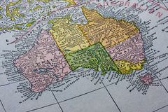 L'Australia con il programma della Tasmania Immagini Stock Libere da Diritti