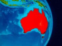 L'Australia da spazio Immagini Stock