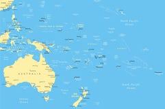 L'Australia ed Oceania - mappa - illustrazione Fotografia Stock Libera da Diritti