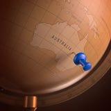 L'Australia ha segnato Fotografie Stock Libere da Diritti