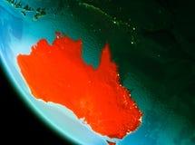 L'Australia nel rosso nella sera Immagine Stock Libera da Diritti