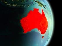 L'Australia nella mattina dall'orbita Fotografia Stock