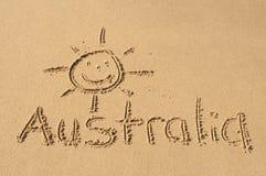 L'Australia nella sabbia Fotografie Stock Libere da Diritti
