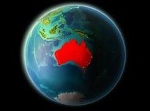 L'Australia nella sera Immagini Stock Libere da Diritti