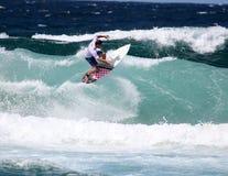 L'Australia praticante il surfing Immagine Stock
