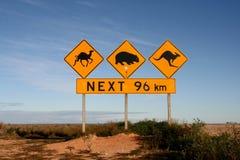 L'Australia Roadsigns Immagini Stock Libere da Diritti