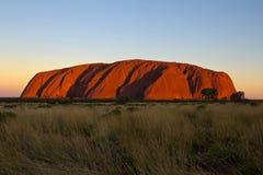 L'Australia, roccia di Ayers, Uluru, parco nazionale, Territorio del Nord fotografie stock