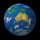 L'Australia sul globo della terra Immagine Stock