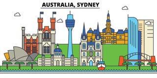 L'Australia, Sydney Architettura dell'orizzonte della città editable royalty illustrazione gratis