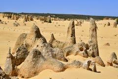 L'Australia, WA, i culmini nel parco nazionale di Nambung Fotografia Stock