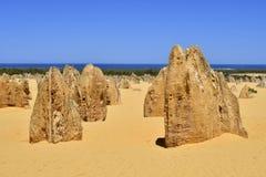 L'Australia, WA, i culmini nel parco nazionale di Nambung Fotografie Stock