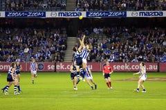 L'australiano regola il gioco del calcio Fotografie Stock