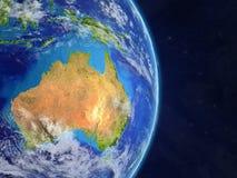 l'Australie de l'espace illustration libre de droits