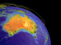l'Australie de l'espace illustration de vecteur