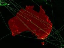 L'Australie sur la carte verte illustration stock
