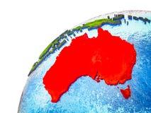 L'Australie sur terre 3D illustration de vecteur